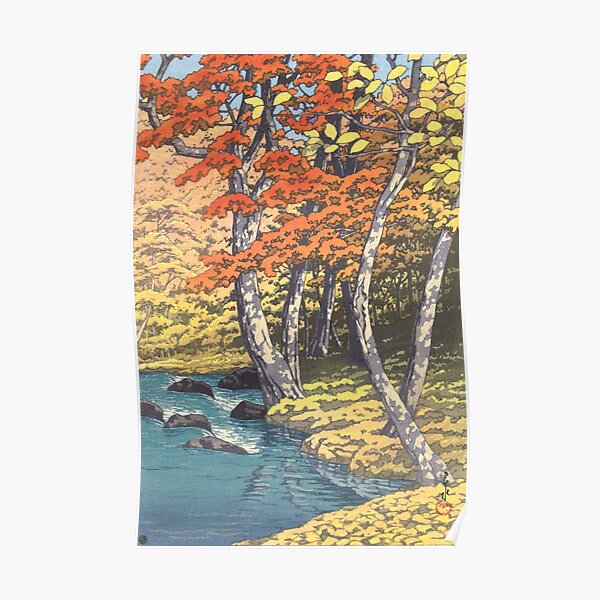 Autumn in Oirase by Kawase Hasui, 1933 Poster