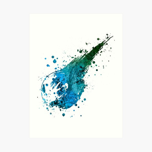 Final Fantasy (Lite) Splatter Art Print