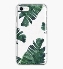 Banana Leaf #Watercolor Pattern #redbubble iPhone Case/Skin