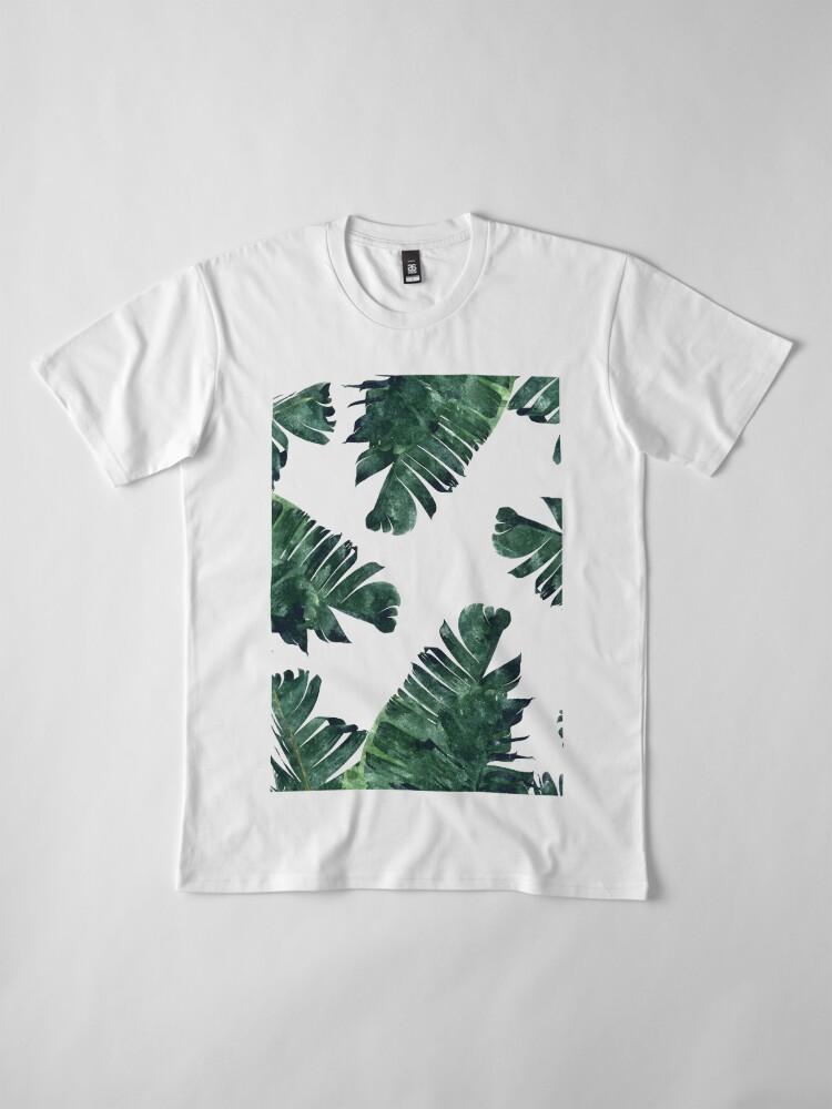 Alternative Ansicht von Bananen-Blatt #Watercolor Pattern # redbubble Premium T-Shirt