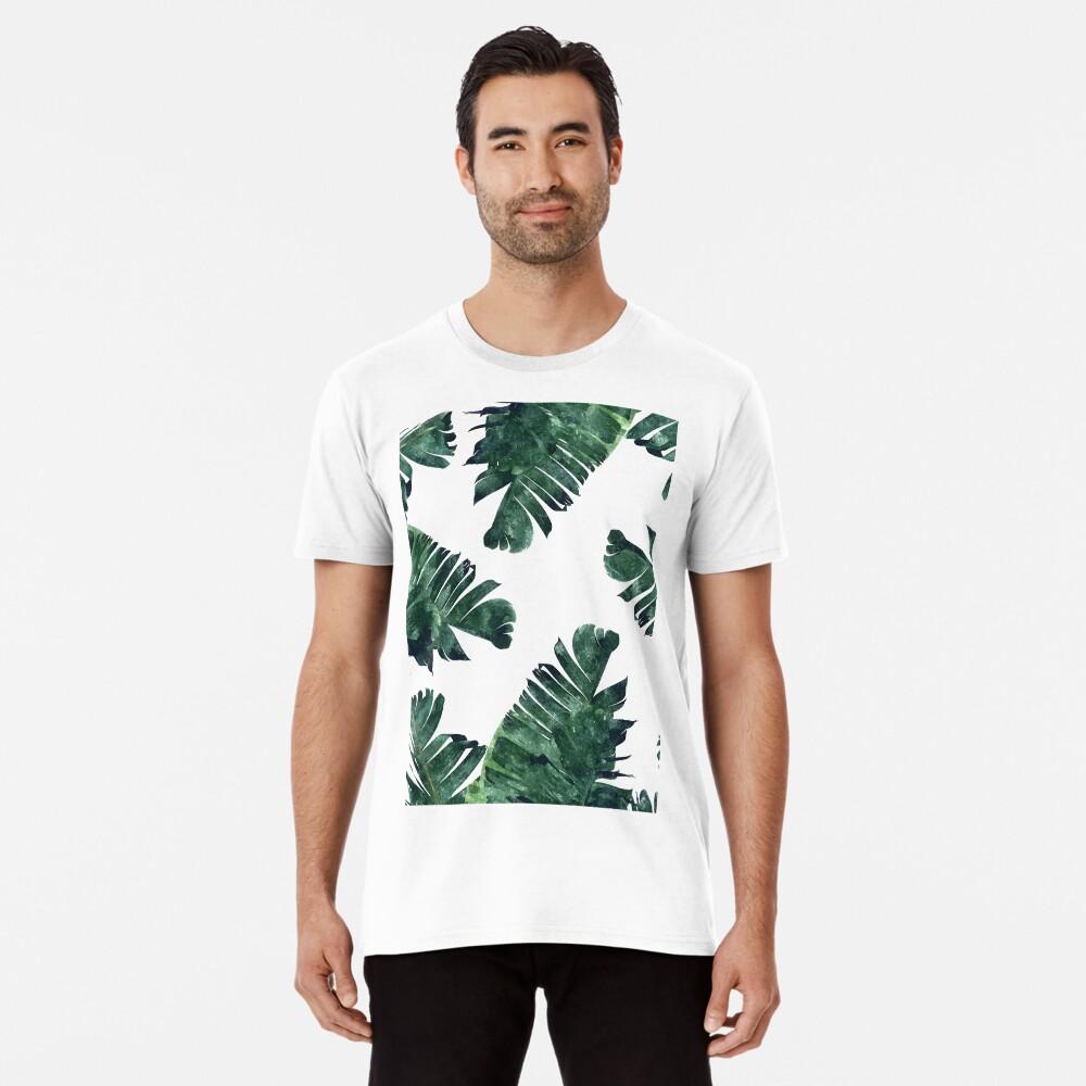Bananen-Blatt #Watercolor Pattern # redbubble Premium T-Shirt
