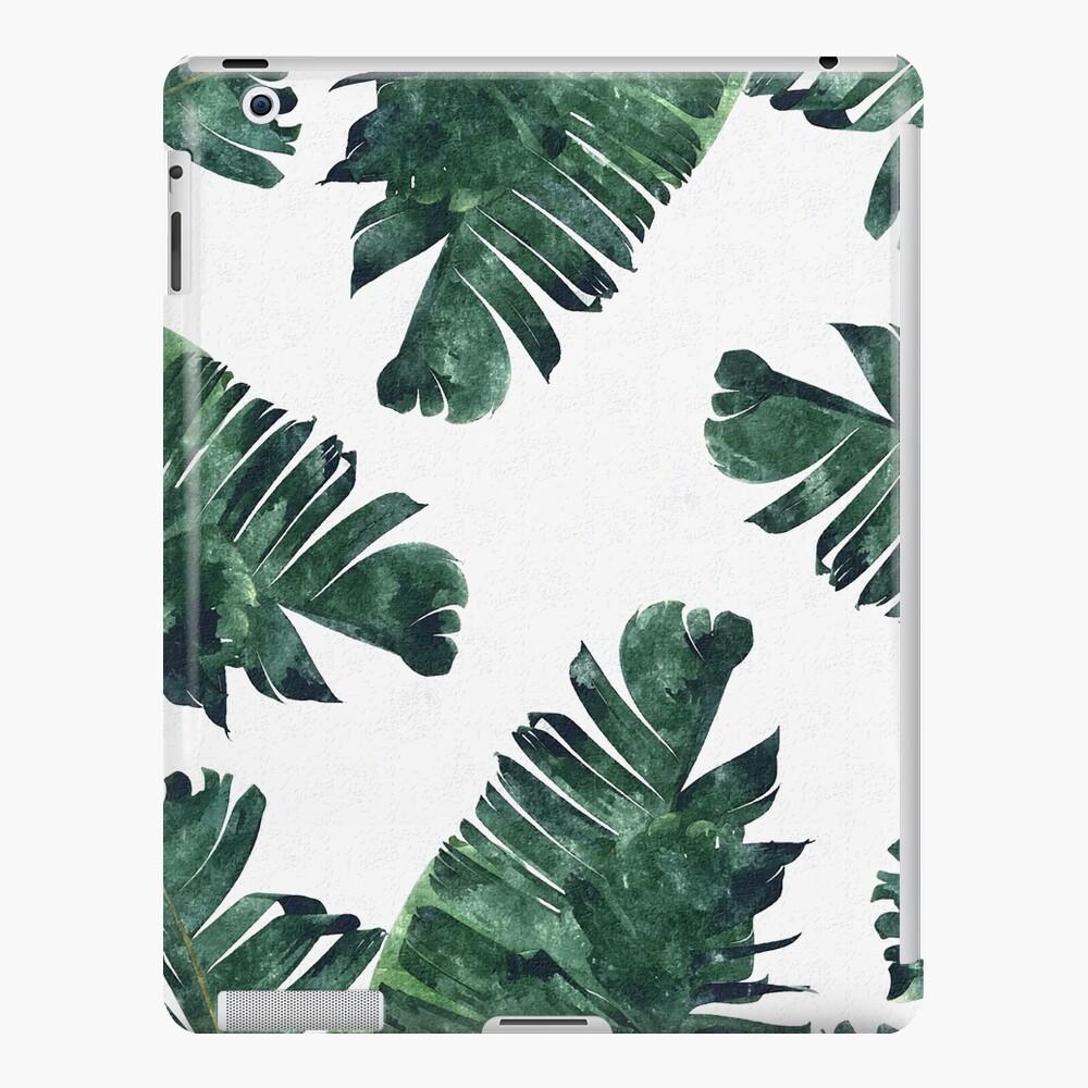 Banana Leaf #Watercolor Pattern #redbubble iPad Case & Skin