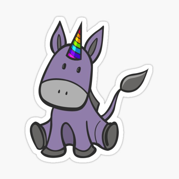 Donkey-corn Sticker