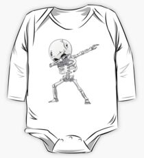 Dabbing Skeleton Halloween Funny Zombie Dab Dance T Shirt One Piece - Long Sleeve