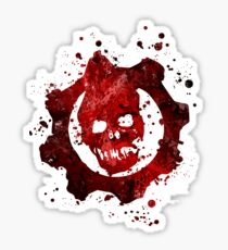 Gears of War Splatter Sticker