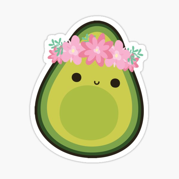 FLOWER CROWN AVOCADO Sticker