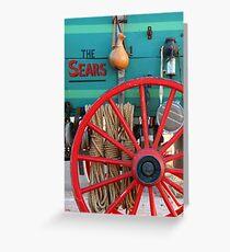 Old Sears Wagon Greeting Card