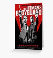 Hitman & Bodyguard Poster Greeting Card