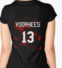 Jason Voorhees Jersey Women's Fitted Scoop T-Shirt