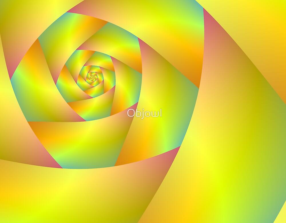 Yellow Spiral by Objowl