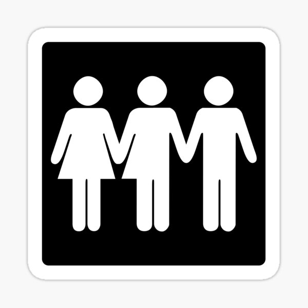 Gender Neutral Bathrooms! Sticker