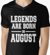 LEGENDS ARE BORN IN AUGUST Men's V-Neck T-Shirt