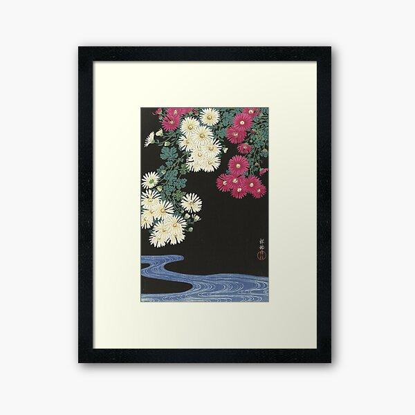 Chrysanthemums - Japanese Art Print Framed Art Print