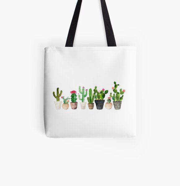 Cactus All Over Print Tote Bag