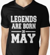 LEGENDS ARE BORN IN MAY Men's V-Neck T-Shirt