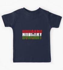 Hungary Flag Font Kids Clothes