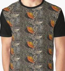 Autumn Colors and Playful Sunlight Patterns - Cherry Leaf Graphic T-Shirt