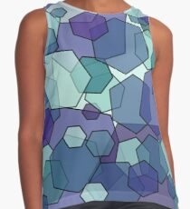 Converging Hexes in teal and purple Contrast Tank