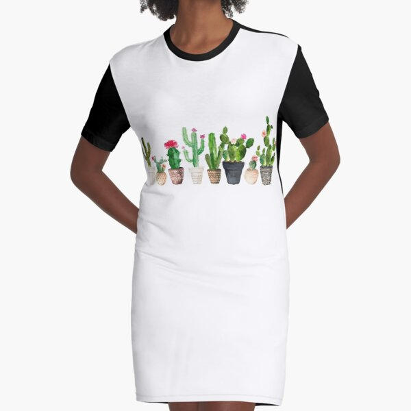 Cactus Graphic T-Shirt Dress
