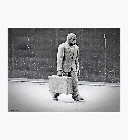 Walking the Streets of Vigo Photographic Print