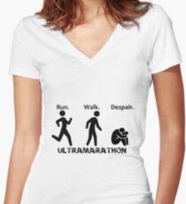 Run. Walk. Despair. Women's Fitted V-Neck T-Shirt