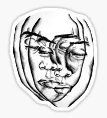 Ink Sketch - Distorted Face Sticker
