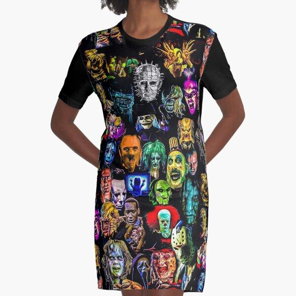 Tim Curry Rocky Horror IT Darkness Mr.Jigsaw Pop Art Movie Mashup Black T-shirt