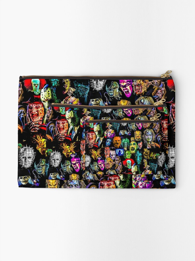 Alternate view of horror collection  Zipper Pouch