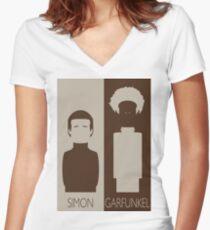 Simon and Garfunkel Women's Fitted V-Neck T-Shirt