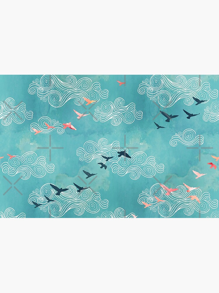 Blue sky birds by adenaJ