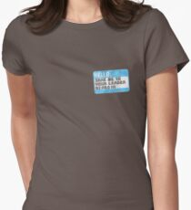 Take me to your leader, biped! Womens Fitted T-Shirt