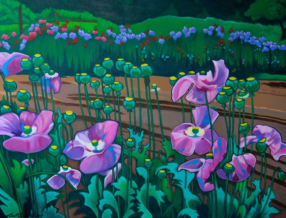 Purple Poppies by Lori Elaine Campbell