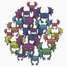 Flying Skull-Bats Attack!! by sushi4breakfast