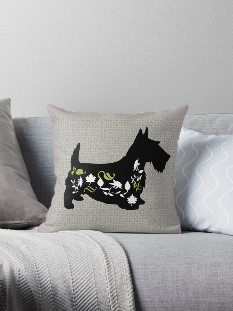 Beautiful Cushions/ Lucky Dog|Scotty Mcflowers by ozcushionstoo