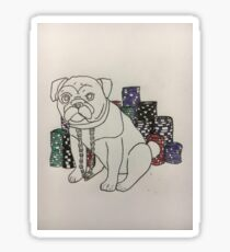 Poker pug Sticker