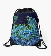 Chinese Azure Dragon Drawstring Bag