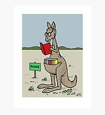 Kangaroo With His Library  Photographic Print