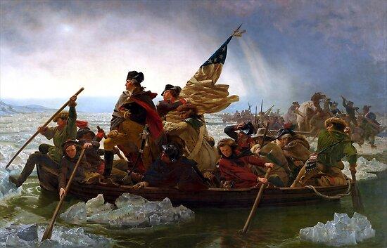 Washington Crossing The Delaware River by Igor Drondin