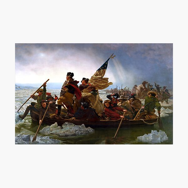 Washington Crossing The Delaware River Photographic Print