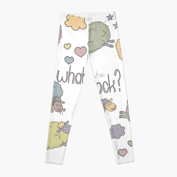 Funny Sheep What the Flock Leggings