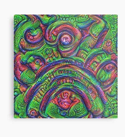 Green #DeepDream Metal Print
