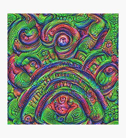 Green #DeepDream Photographic Print