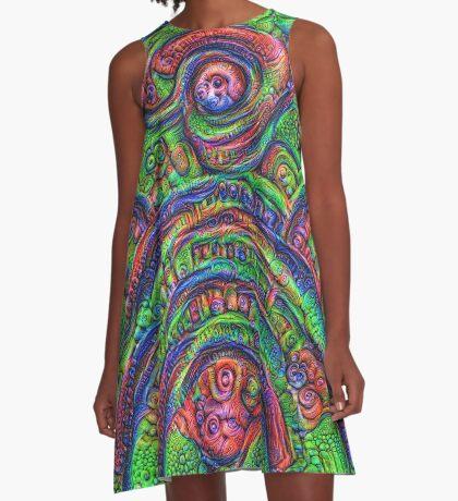 Green #DeepDream A-Line Dress
