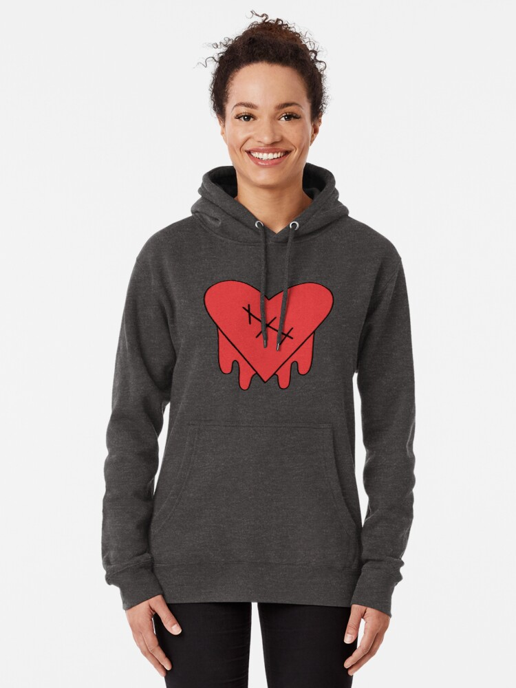 Alternate view of Gravity Falls - Robbie V's Edgy on Purpose heart Pullover Hoodie