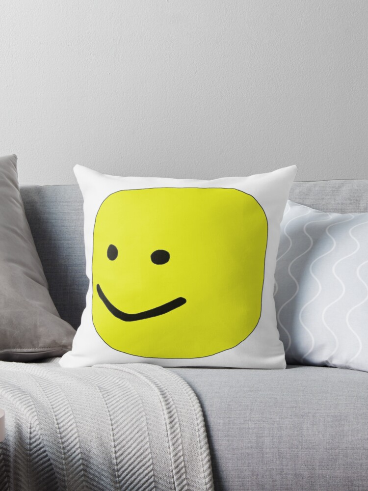 Quot Roblox Oof Quot Throw Pillows By Leo Redbubble