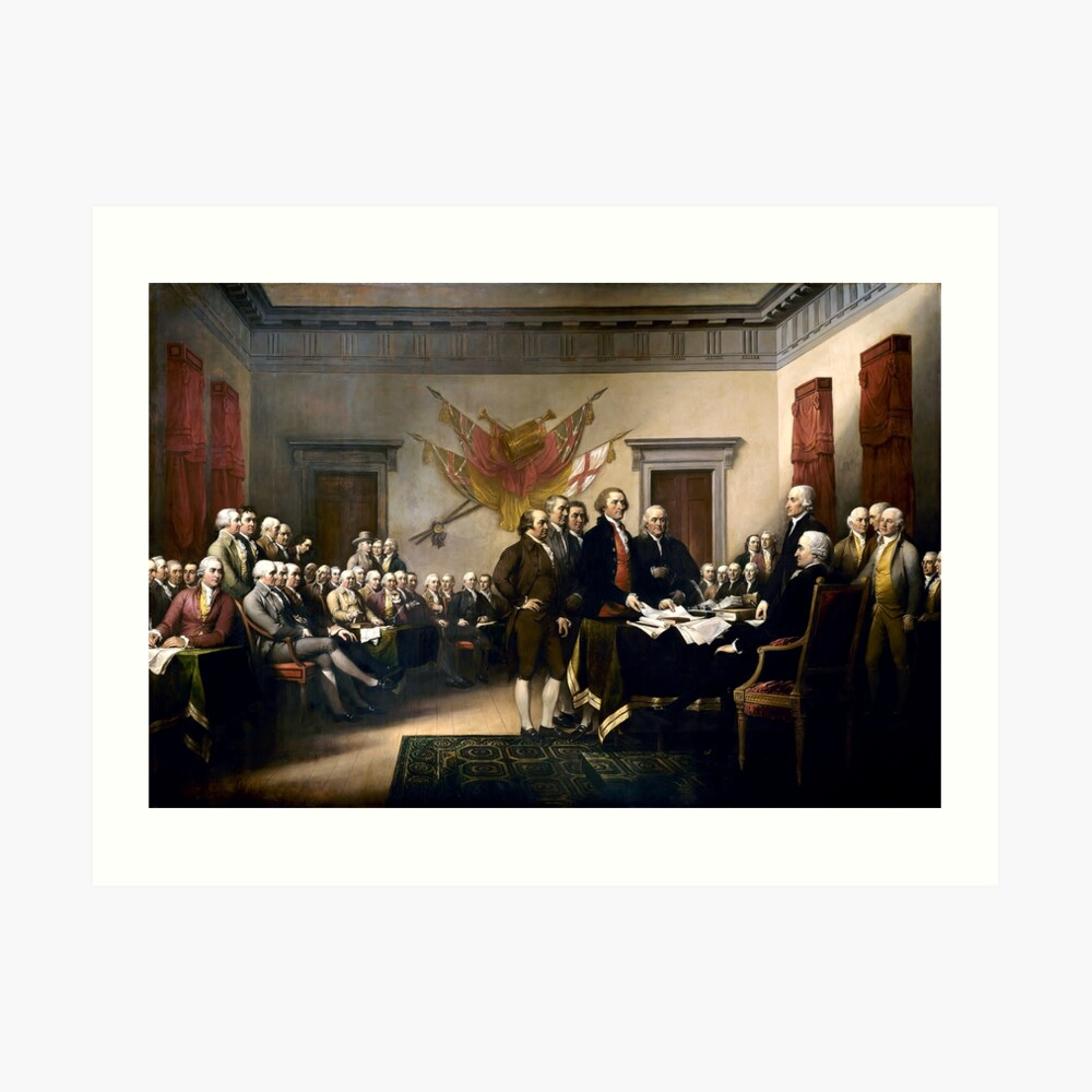 Signing The Declaration Of Independence Art Print