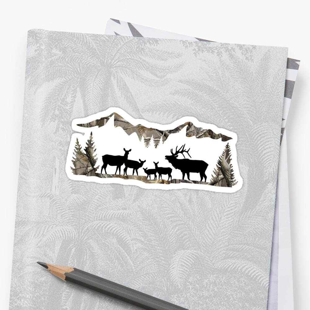 Elk Landscape Sticker