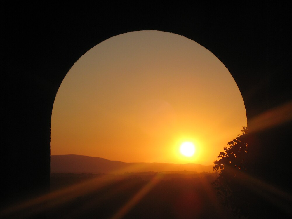 Sunset of Monteriggioni by Annagiulia