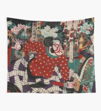 Battle of the Samurai Japanese Wall Tapestry