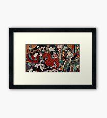 Schlacht der Samurai Japanisch Gerahmtes Wandbild